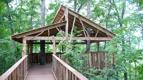 Wonderland Camp, Ozark Missouri by The Tree house Guys of Vermon