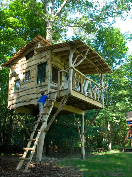 backyard tree house by The Treehouse Guys, LLC Vermont
