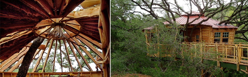 Private treehouse camps designed and built by the Treehouse Guys, Vermont, DIY show