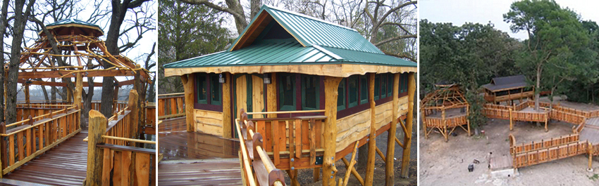public park universally accessible treehouses by the Treehouse Guys, LLC Vermont