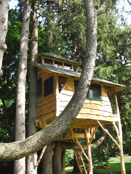 The Jolley Boy's treehouse by The Treehouse Guys, LLC Vermont