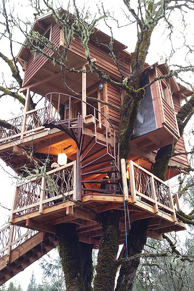 The Sushi D & B Tree House - Cave Junction, OR  by the Tree House Guys, DIY network