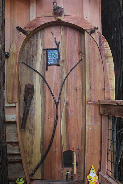 backyard treehouse Gays Fairy Ft. Bragg, CA the Treehouse Guys, DIY Network