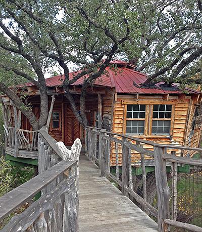 candlelight ranch Texas custom tree house by The Treehouse Guys, LLC