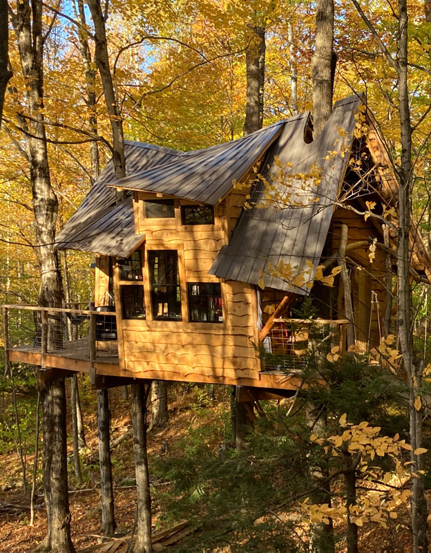 Bliss Ridge backyard treehouse by The Treehouse Guys based in Vermont