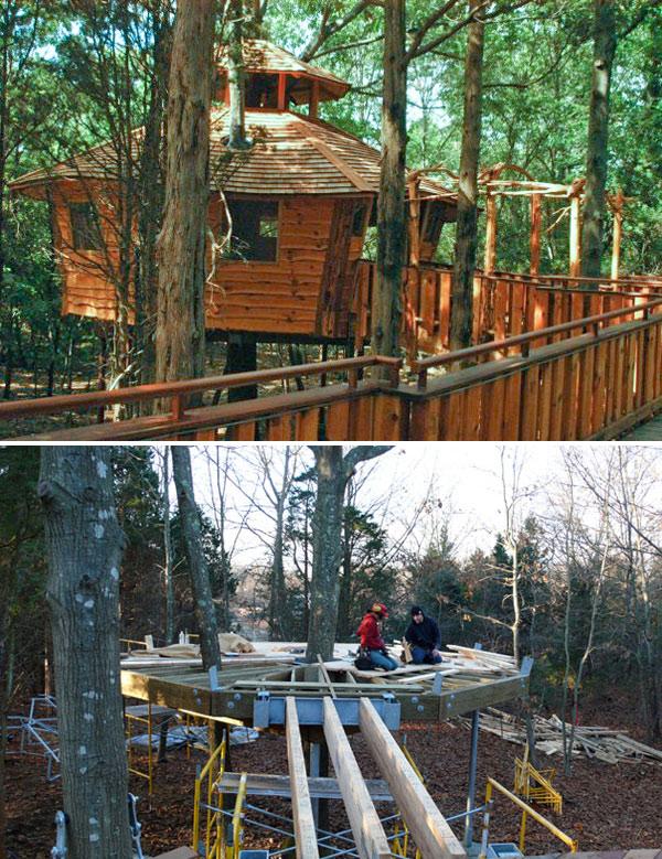 Iddi School tree house in Assonet, Massachusetts, by The Treehouse Guys