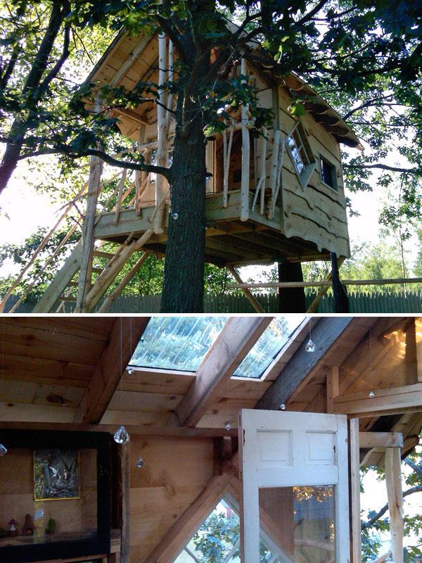 The Treehouse Guys make a wish tree house
