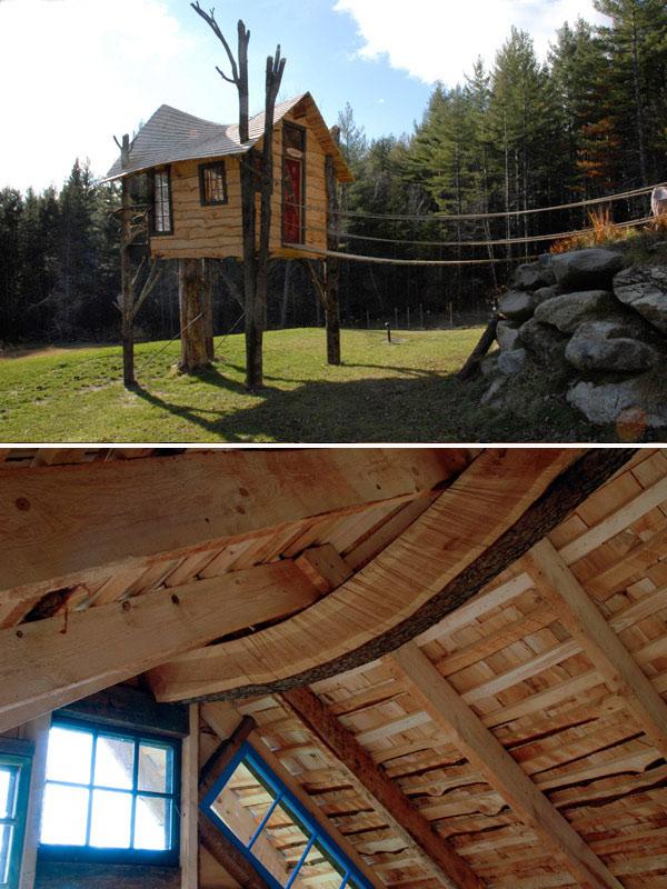 The Treehouse Guys custom backyard tree house
