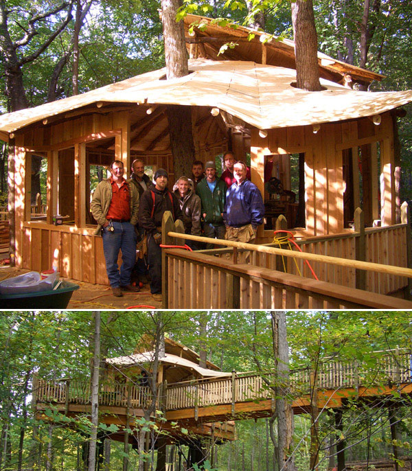 universally accessible tree house at Mount Airy Forest Park, Ohio by The Treehouse Guys