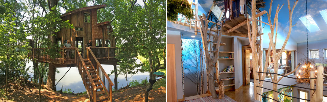 private custom backyard tree houses by The Treehouse Guys