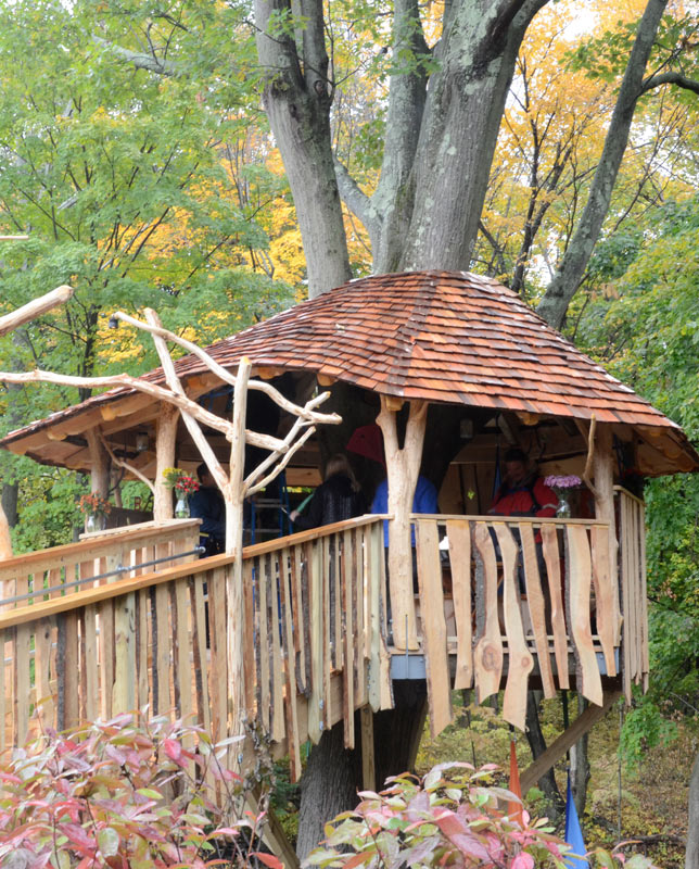 Sherry's Place WHY ME organization tree house, by The Treehouse Guys